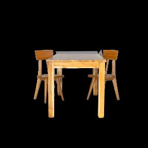 Tavolo in legno di teak indonesiano naturale