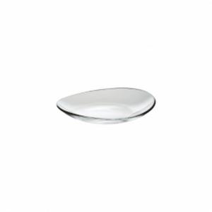 Piatto ovale in vetro trasparente