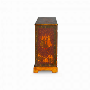 Cassettiera con 8 cassetti dipinta a mano in legno di mango