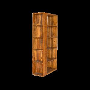 Libreria in legno di palissandro indiano 5 ripiani