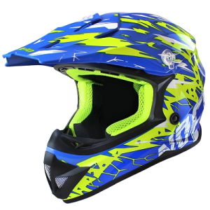 441960G  CASCO OFF ROAD BLU GIALLO NOEND XL
