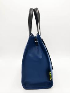 Shopping blu in nylon e pelle REBELLE