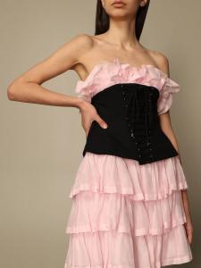 Abito rosa con corpetto nero philosophy di lorenzo serafini