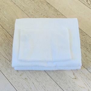 Asciugamani chicco di riso Bianco