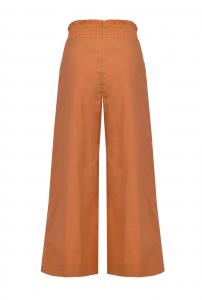 Pantalone Teso 4 cropped ampi mattone Pinko
