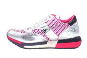 Sneaker con rete glitter