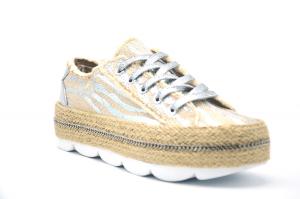 Sneaker con fondo in corda