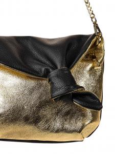 M-BRC Borsa a tracolla bicolore nera oro
