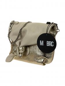M-BRC Borsa a tracolla Bicolore avorio e platino
