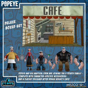 *PREORDER* Popeye 5 Points: POPEYE CLASSIC DELUXE BOX SET by Mezco Toys