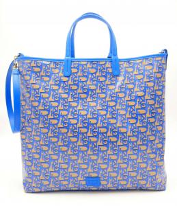 Shopping Vertical Tote Monogram bluette Pinko