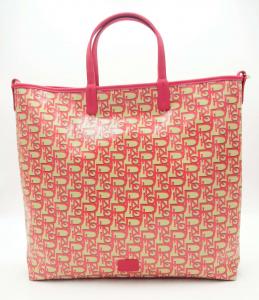 Shopping Vertical Tote Monogram magenta Pinko