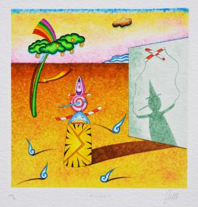 Ghelli Giuliano Pinocchio Serigrafia Formato cm 29,5x29,5