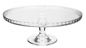Alzata pasticceria in vetro trasparente cm.12,5h diam.32,2
