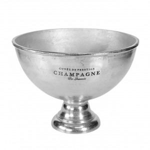 Spumantiera coppa Champagne in alluminio anodizzato argento
