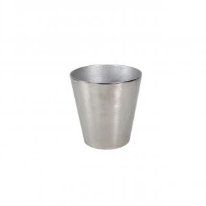 Secchiello champagne portabottiglie tondo, alluminio anodizzato argento, per una bottiglia