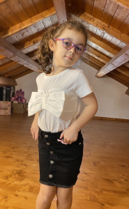 Tshirt Vicolo Bambina Fiocco 4/14 ANNI