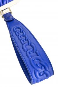 Borsa Soft Pouch fraimed chain bluette Pinko