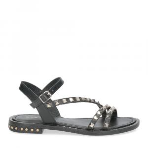 Il Laccio sandalo 707-60 borchie nero-2