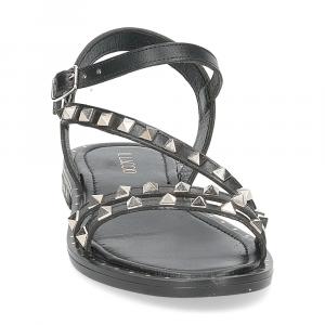 Il Laccio sandalo 707-60 borchie nero-3
