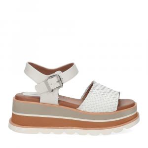 Rahya Grey sandalo Bea pelle bianco-2