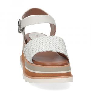 Rahya Grey sandalo Bea pelle bianco-3