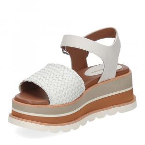 Rahya Grey sandalo Bea pelle bianco-4