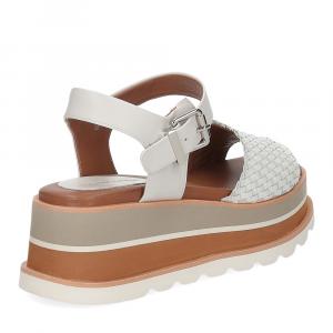 Rahya Grey sandalo Bea pelle bianco-5
