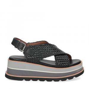 Rahya Grey sandalo bianca pelle nera-2