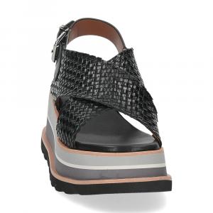 Rahya Grey sandalo bianca pelle nera-3