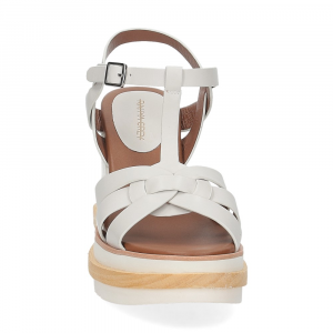 Rahya Grey sandalo krizia pelle bianco-3