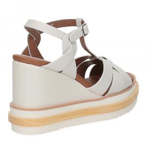 Rahya Grey sandalo krizia pelle bianco-5