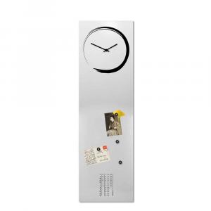 Orologio da muro con calendario e organizer S-enso bianco 100x30 cm