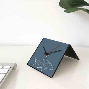 Orologio da tavolo con calendario perpetuo Totem Fish 10x10x10 cm