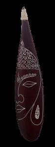 Porta incenso foglia di cocco con raffigurazione Sguardo di Buddha