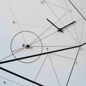 Orologio da muro Time Line bianco