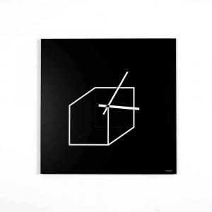 Orologio da muro Cube nero