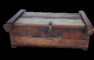 Scatola in legno di teak recuperato da vecchi ponti