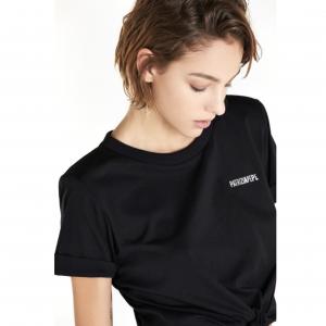 T-Shirt con Spallini - PATRIZIA PEPE