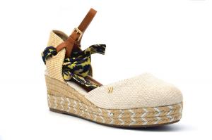 Bella Classic sandalo zeppa in corda