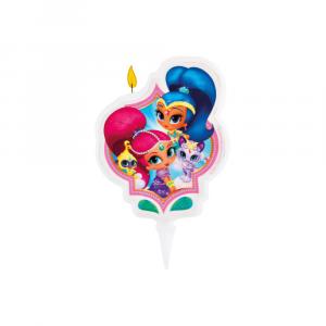 Shimmer & Shine Candela decorativa per torte
