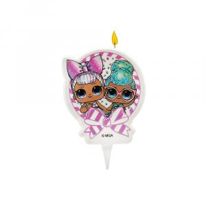 Candela per compleanno con personaggi  - Lol Surprise 2D