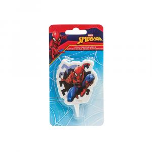 Candela di compleanno Spiderman - Uomo Ragno