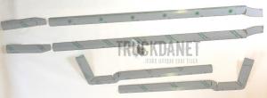 DAF Rivestimento spoiler posteriore in acciaio Inox lucido (aisi 304) Spessore 1,5 cm.