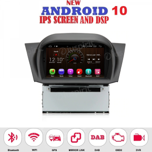 ANDROID 10 autoradio navigatore per Ford Fiesta 2013-2017 GPS DVD USB SD WI-FI Bluetooth Mirrorlink