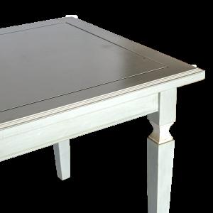 Tavolo in legno di acacia azzurro grigio