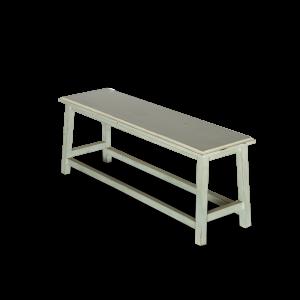 Panca in legno di acacia azzurra grigia