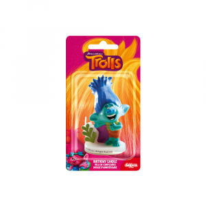 Trolls - Branch candle for birthday cakes