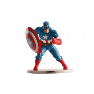 Statuina decorativa per torte Captain America in PVC