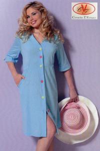 Vestaglia aperta Jersey Donna, mezza manica. Cornelia T. Versace - Happy. Cotone